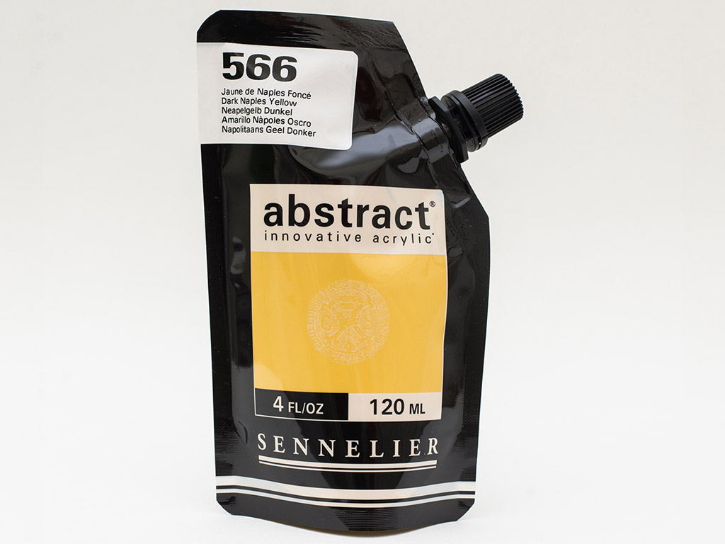 Akriliniai dažai Abstract 120ml 566 dark naples yellow