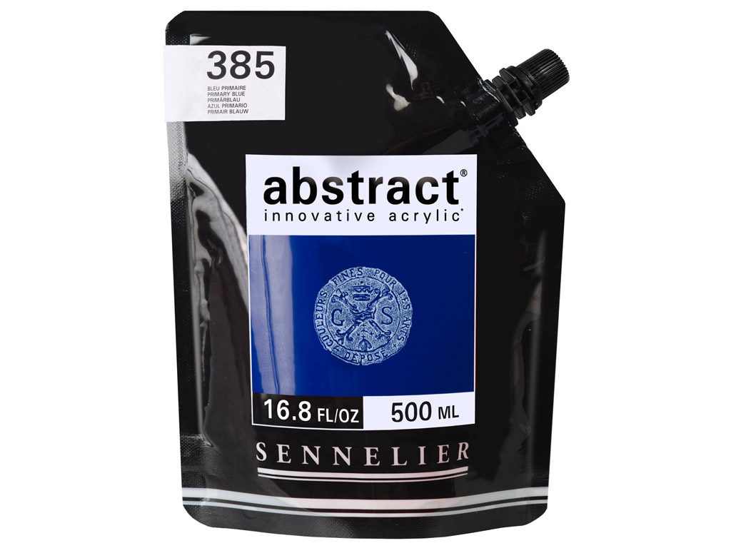 Akrila krāsa Abstract 500ml 385 primary blue (P)
