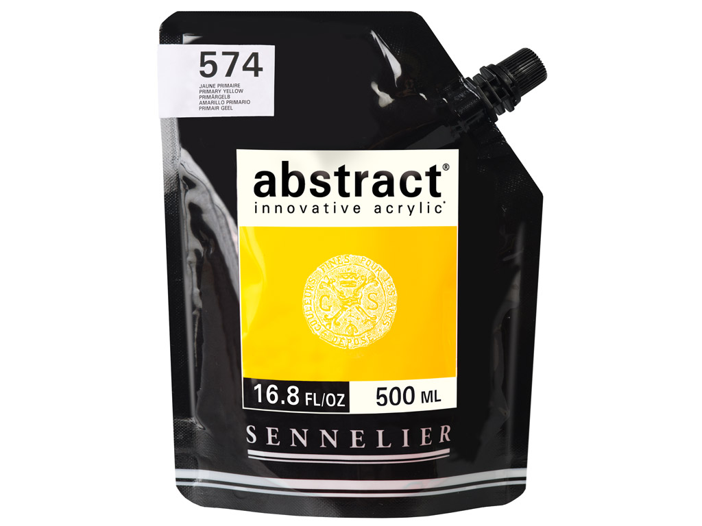 Akrüülvärv Abstract 500ml 574 primary yellow (P)