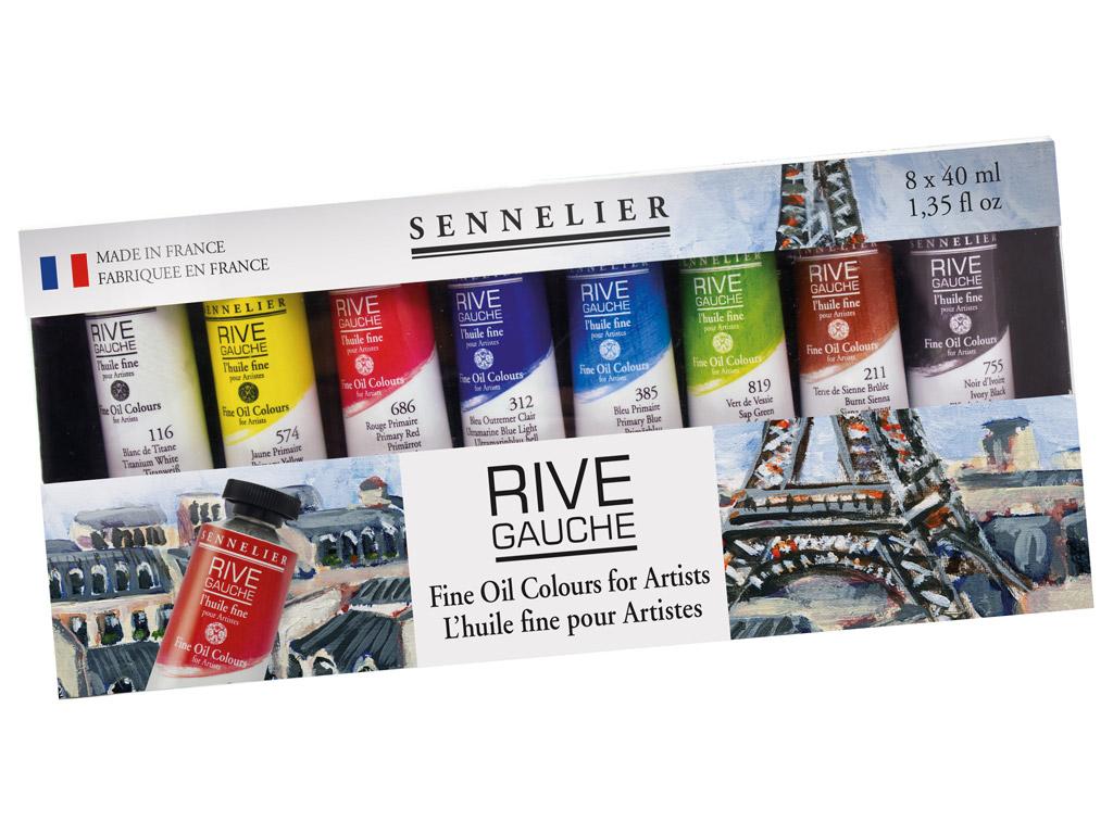 Eļļas krāsa Sennelier Rive Gauche 8x40ml