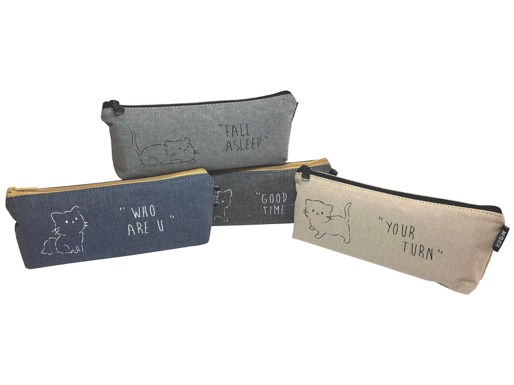 Pencil case M&G trapezoid Meow assorted