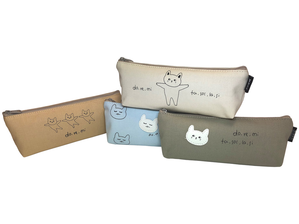 Pencil case M&G trapezoid Little Fly Cat assorted