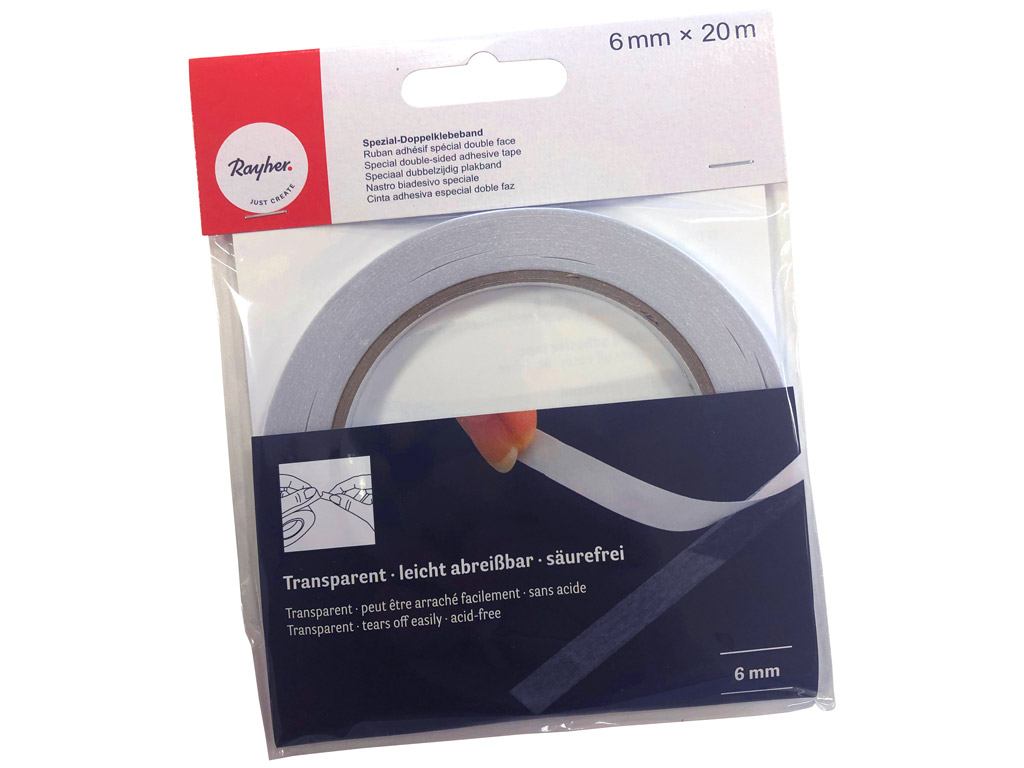 Double-sided adhesive tape Rayher 6mmx20m transparent
