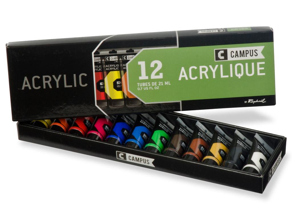 Acrylic colour Campus 12x21ml