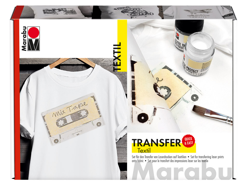 Transfer set for fabric Marabu