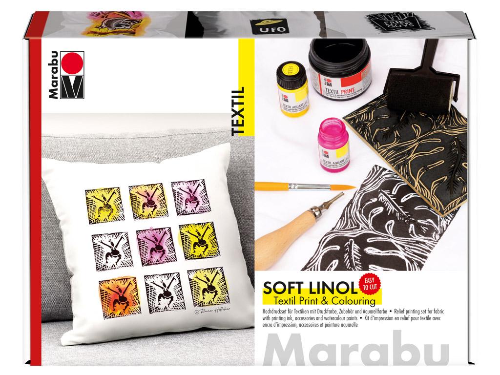 Linoollõike komplekt tekstiilile Marabu
