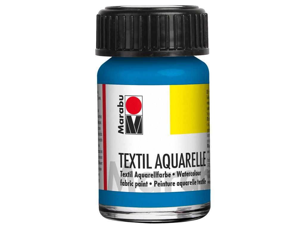 Tekstilės dažai Aquarelle 15ml 056 cyan