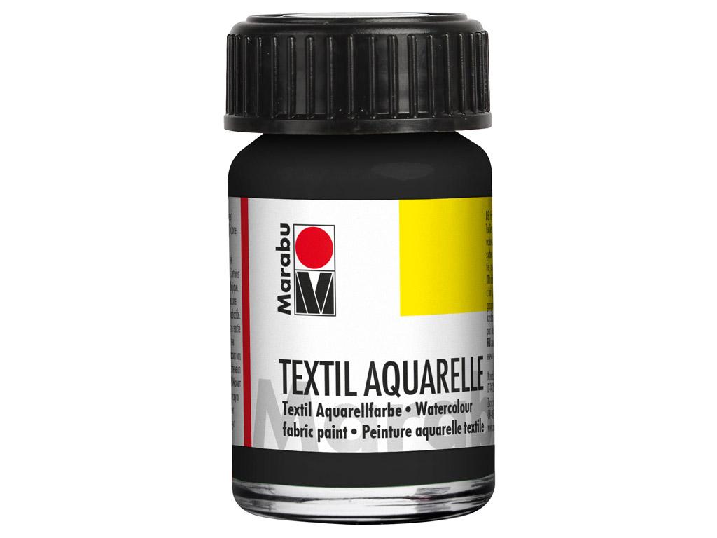 Tekstilės dažai Aquarelle 15ml 073 black