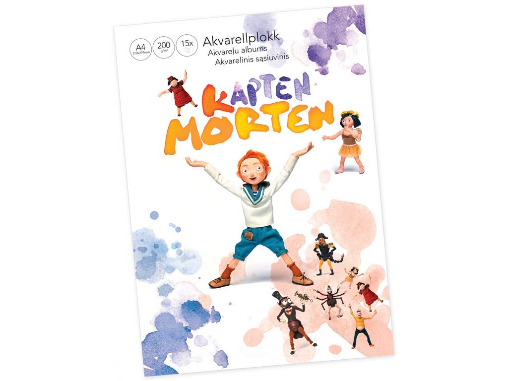 Akvarellplokk Kapten Morten A4/200g 15 lehte