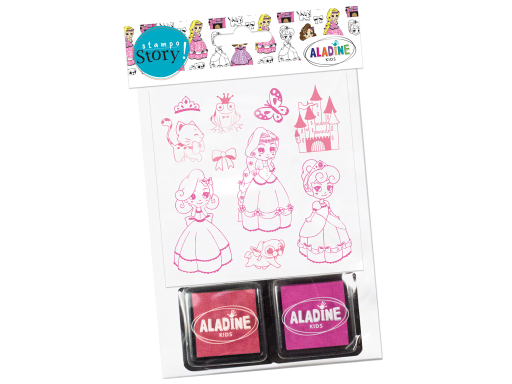 Stamp Aladine Stampo Story 10pcs Princesses + 2ink pads