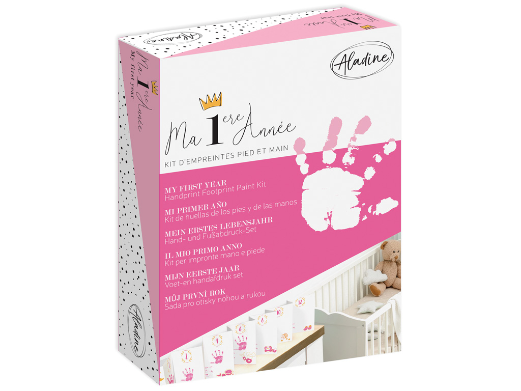Handprint paint kit Aladine My First Year Girl