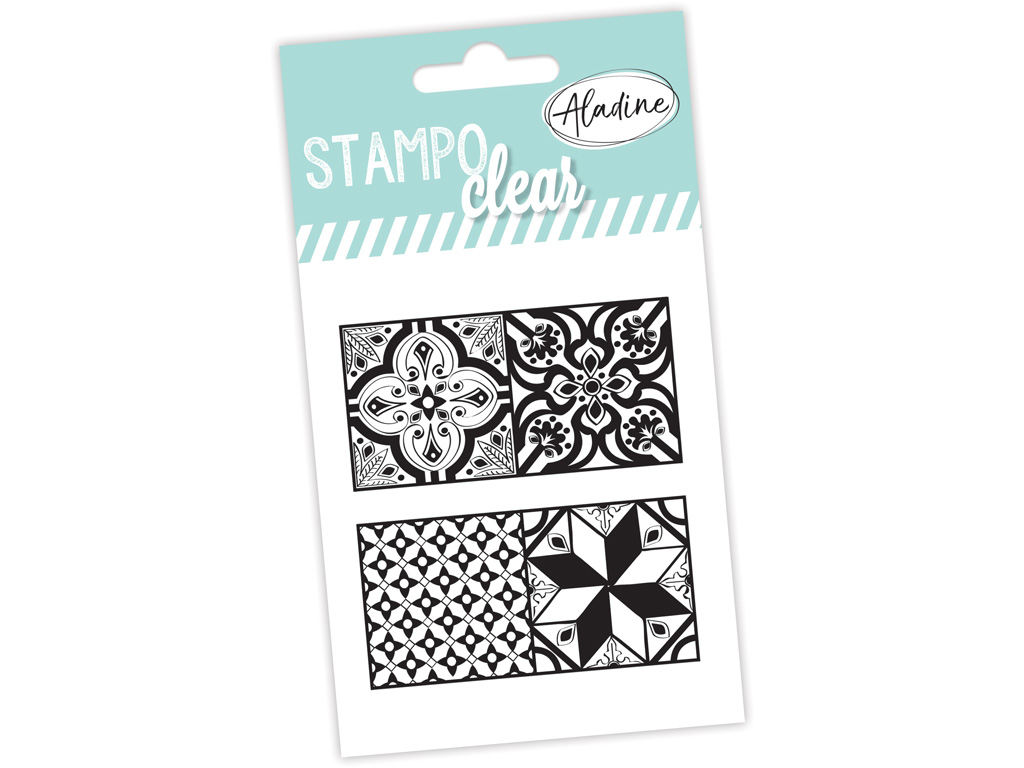 Tempel silikoonist Aladine Stampo Clear 2tk Cement Tiles