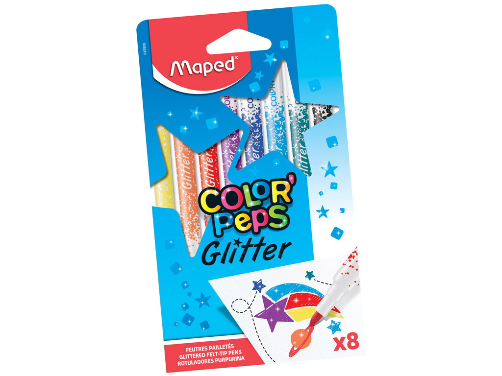 Flomasteris ColorPeps Glitter 8vnt.