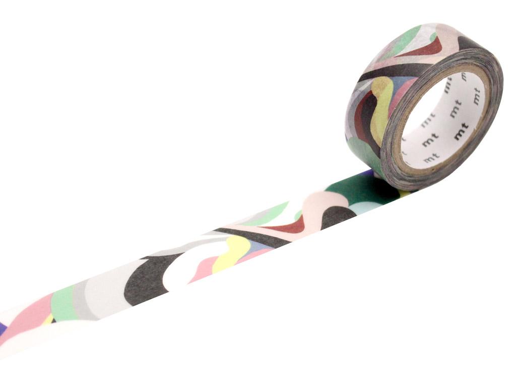 Washi dekoratyvi lipni juostelė mt Papier Tigre 15mmx7m l'Aquarius