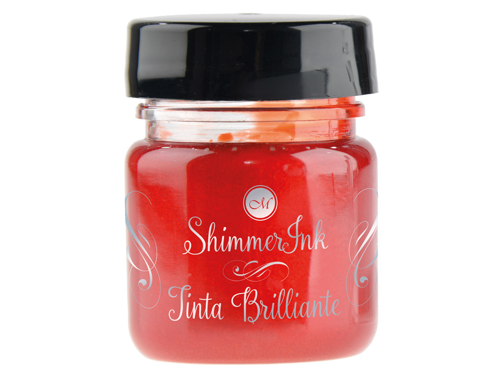Tušas kaligrafijai Manuscript ShimmerInk 25ml strawberry crush