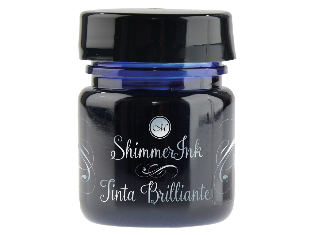 Tušas kaligrafijai Manuscript ShimmerInk 25ml cosmic blue