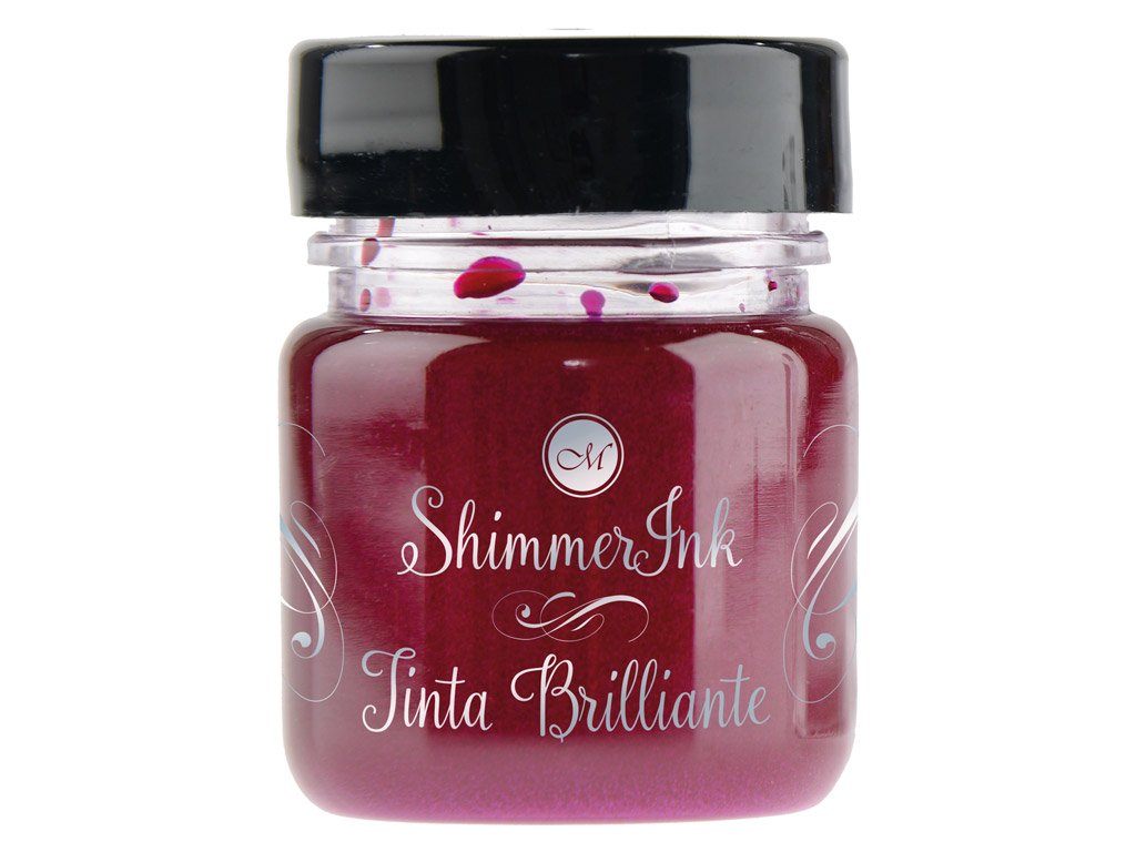 Tušas kaligrafijai Manuscript ShimmerInk 25ml frosted berry