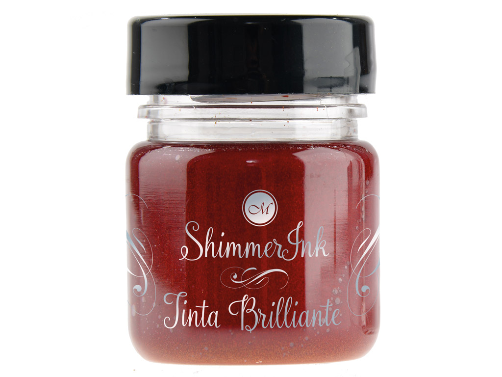 Kaligrāfijas tinte Manuscript ShimmerInk 25ml ruby sunset