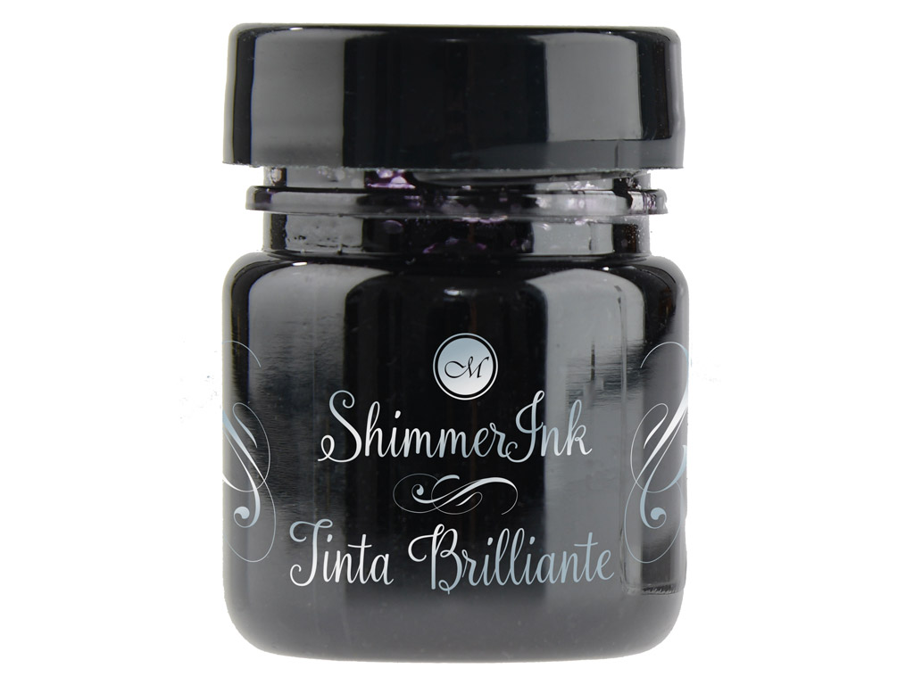 Tušas kaligrafijai Manuscript ShimmerInk 25ml black ice