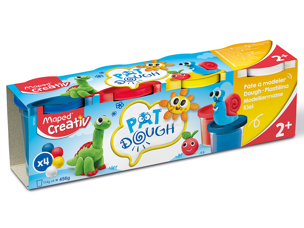 Lipdymo masė Maped Creativ Early Age 4x120g