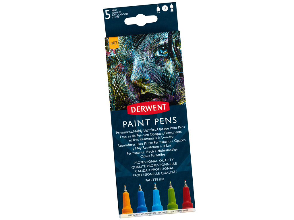 Paint pen Derwent 5pcs Palette 2