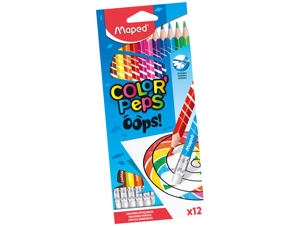 Colour pencils ColorPeps Oops! 12pcs with eraser