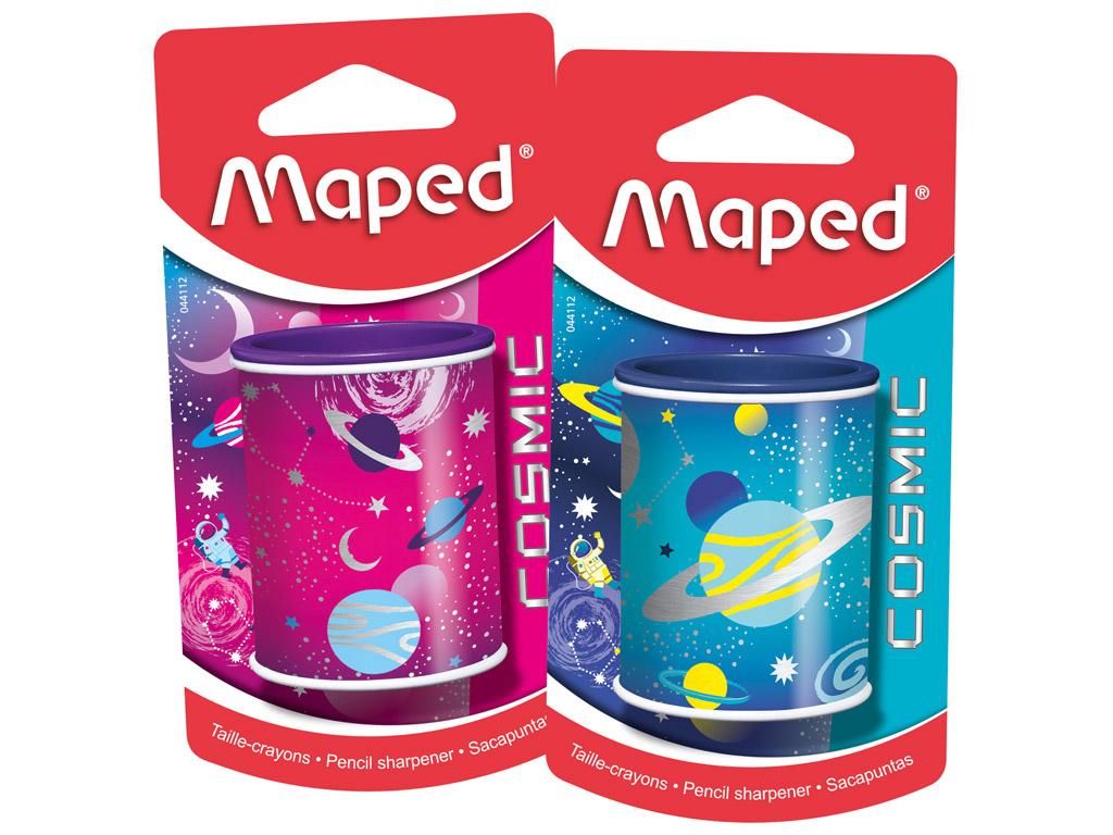 Zīmuļu asināmais Maped 2-caurumi Cosmic Kids blisterī
