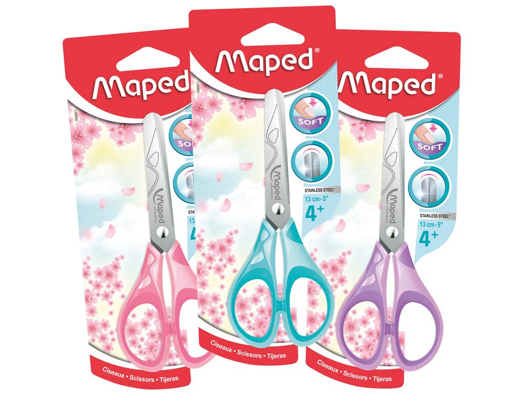 Šķēres Maped Essentials Pastel Soft 13cm blisterī