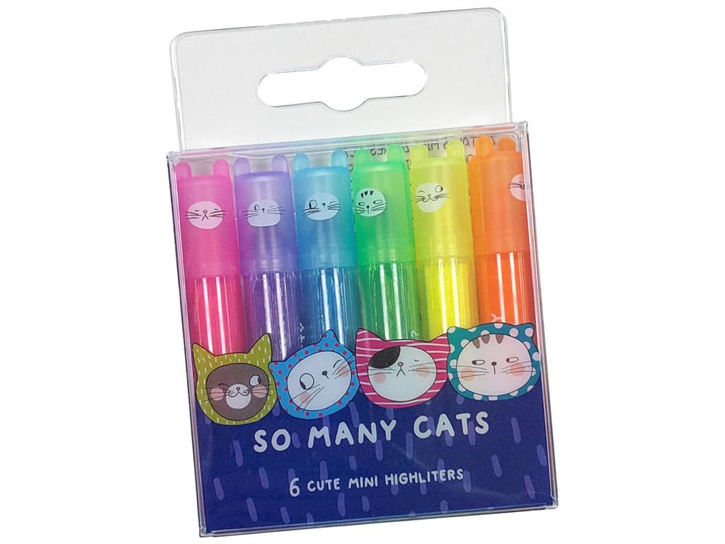 Teksto žymeklis M&G mini So Many Cats kvapnus 6vnt.