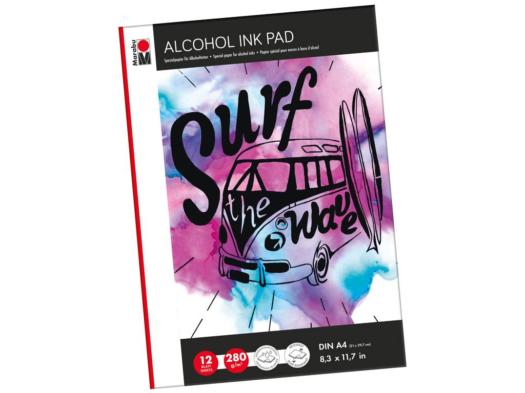 Alcohol ink pad Marabu A4/280g 12 sheets