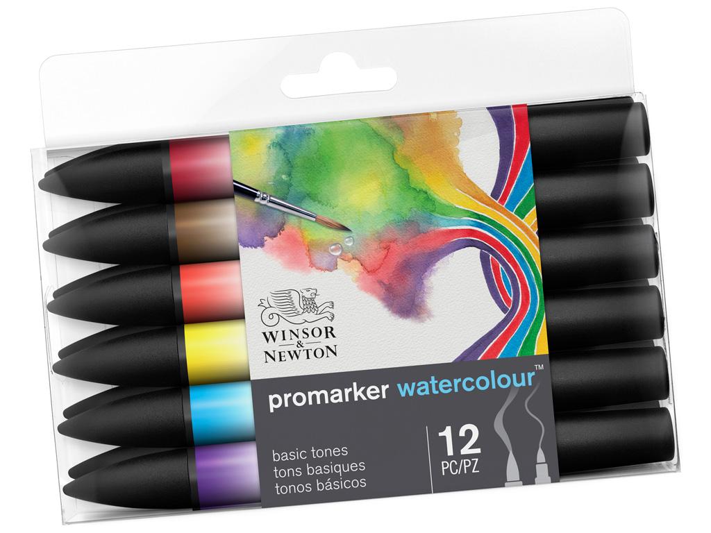 Akvarellmarkerite komplekt W&N Promarker 12tk