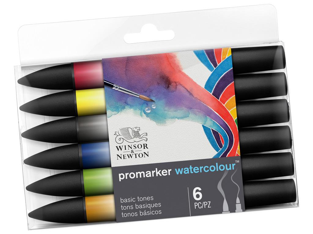 Akvarellmarkerite komplekt W&N Promarker 6tk