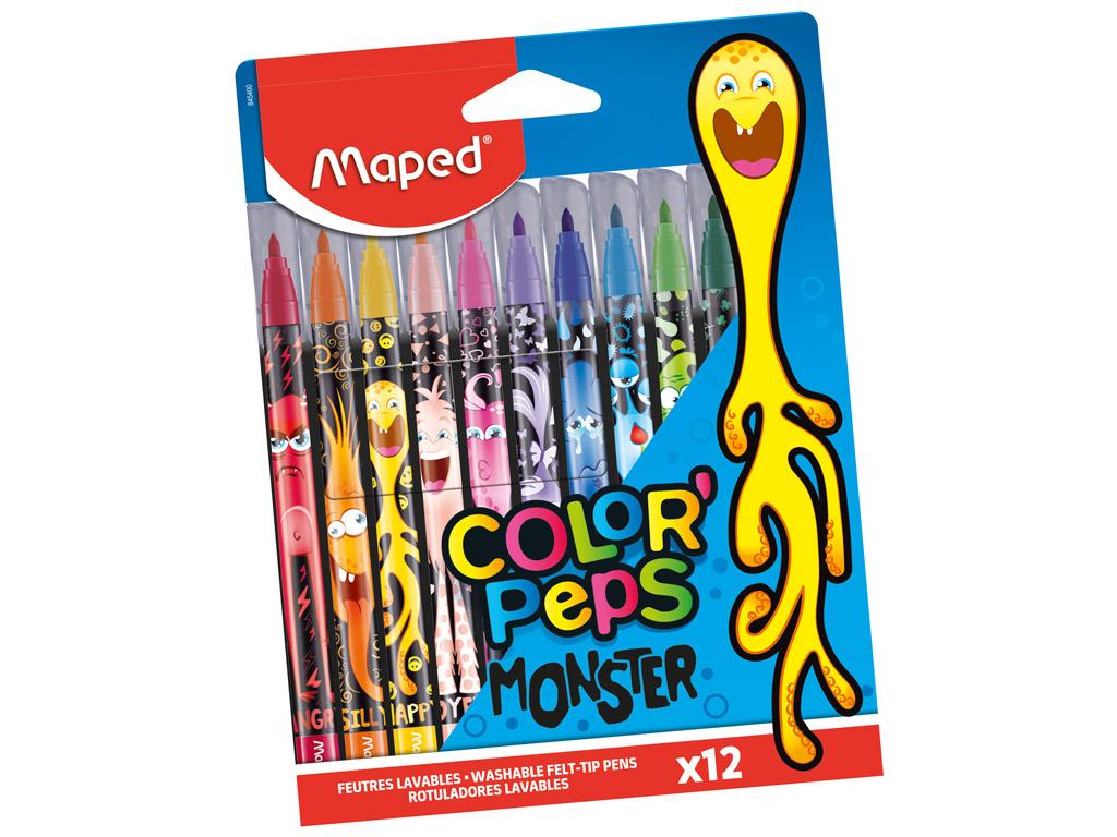 Viltpliiats ColorPeps Monster 12tk