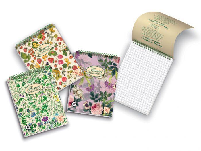 Notepad Pigna Nature Flowers