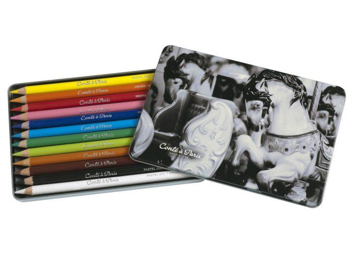Pastel Pencils box Conte a Paris