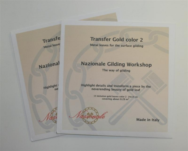 Zelta folijas lapas aploksnē (pārnešanai) Nazionale Variegated