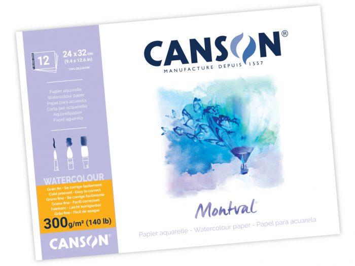 Akvareļbloks Canson Montval