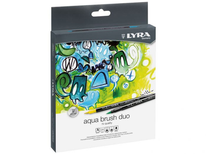 Flomasteri Lyra Aqua Brush Duo komplekts - 1/2
