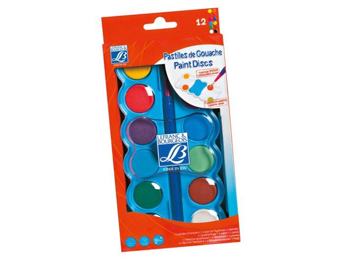 Sausās guaša krāsas L&B Education