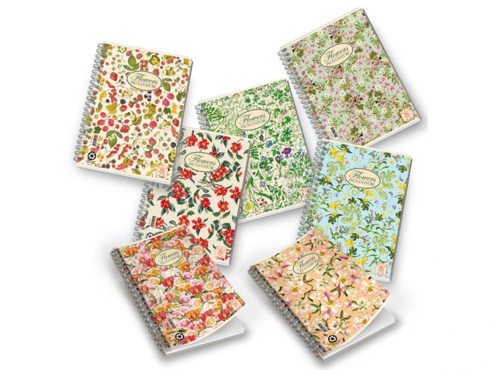 Spiral exercise book Pigna Nature Flowers
