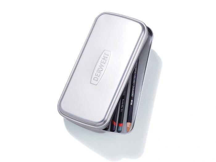 Derwent Silver pencil case tin - 1/3