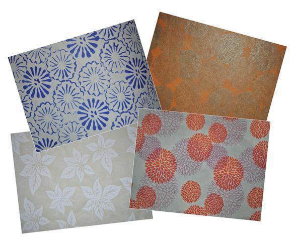 Lokta Paper 51x76cm flowers - 1/5