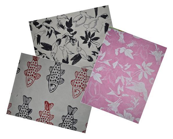 Lokta Paper 51x76cm animals - 1/5