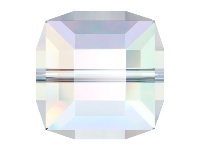 Crystal Bead Swarovski cube 5601 6mm - 1/2