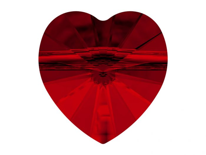 Kristāla pērle Swarovski sirds 5742 8mm - 1/2