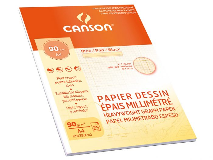 Millimeeterpaber Canson A4