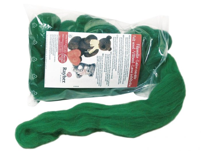 Pure new wool roving tuft Rayher 50g - 1/2