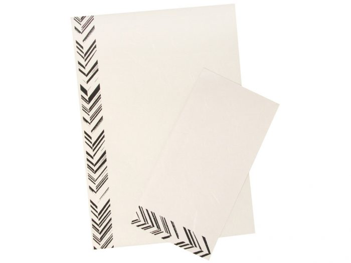 Note paper mulberry set 5x A4 +  envelopes