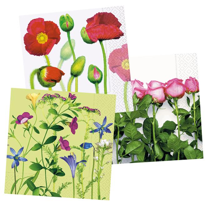 Napkins Paper+Design 25x25cm 20pcs flowers