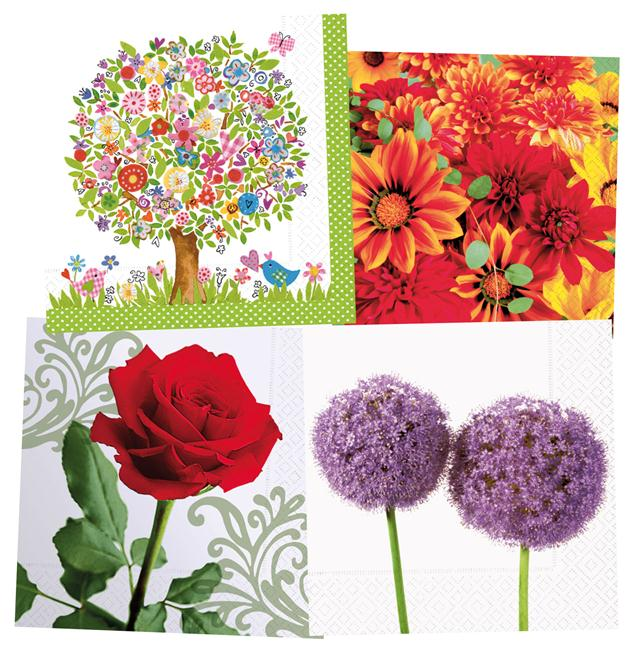 Napkins Colourful Life 33x33cm 20pcs flowers